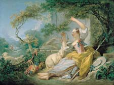 Lady in garden - shepherdess by fragonard