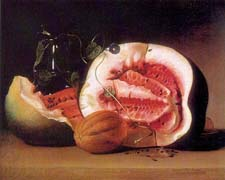 Still Life with Watermelon - Peale, James
