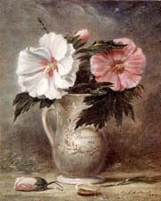 Hollyhocks and Other Flowers in a Vase, 1710,