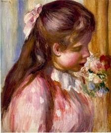 Buste de jeune fille Pierre Auguste Renior 1895